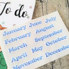Blue Months of the year, Headers, Bullet, Stickers, Bujo Stickers #1045