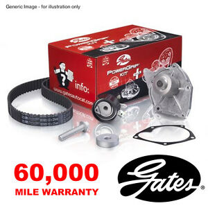 GATES TIMING CAM BELT WATER PUMP KIT FOR FORD C-MAX FIESTA V FOCUS FUSION