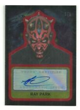 Topps Star Wars Journey Force Awakens Ray Park Darth Maul Autograph Red #ed 1/ 1
