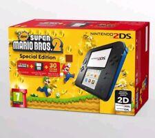 Nintendo Handheld Console 2DS - Black/Blue with New Super Mario Bros 2