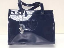 Armani JR. NEW GIRLS NAVY PATENT LEATHER LOGO HANDBAG Sz: O/S RTL: $195 Q131