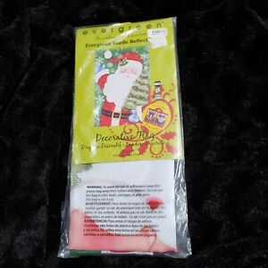 """Evergreen Christmas Starry Night Santa and Snowman 2 Sided Flag 29"""" x 43"""" NEW"""
