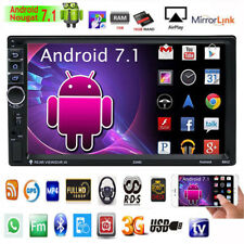 Quad-Core 1080P Android 7.1 3G WIFI Double 2DIN Car Radio MP3 MP5 Player GPS Nav