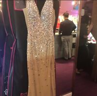 Evening Dress - Tan, Size 6 Jovani Originally $1,000 selling for $750 worn once