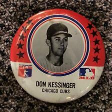1969 MLB DON KESSINGER CHICAGO CUBS LARGE 3 1/2 PIN BUTTON ORIGINAL BASEBALL