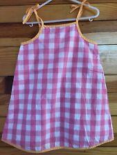 Hanna Andersson Sundress Girls Pink & White Check Dress Size 100 4
