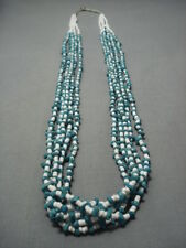 RARE!! VINTAGE NAVAJO TURQUOISE NECKLACE OLD PAWN JEWELRY