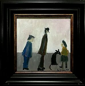 L.S. Lowry - framed oil painting