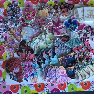 50pc mixed resins/flatbacks/hair bow centers. Bag of 50 mixed pcs. Seller choice