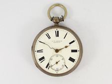 Silver Open Face Spares or Repair Jw24 Antique J W Benson Pocket Watch Sterling