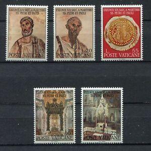 S24652) Dealer Stock Vatican MNH 1967 Peter & Paul Martyrdom 5v (X10 Sets)