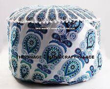 Gypsy Bohemian Pouf Ottoman Peacock Mandala Indian Pouf Round Ottoman Seat pouf