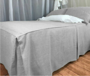 """1 Piece Box Pleat Bed Spread 25"""" Drop 100% Egyptian Cotton All size & color"""