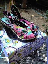 Irregular Choice Amy Lasagna Open Toe Wedge Sandals Platforms Sz 40, Sz 9 Sz 8.5
