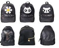 Women Girls Ladies Backpack  Purse PU Leather Studded Shoulder Rucksack Bag