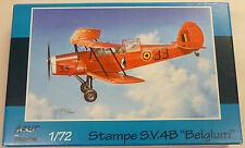 Azur 1/72 Stampe Sv4b Belgium 2 Seater Bi-plane Model Kit 240