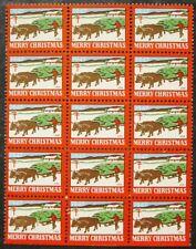 US, 1947 Christmas Seal Printer Mark Block & Man's Missing Hand, WX135, MH