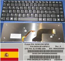 Clavier Qwerty Espagnol ASUS U80 9J.N1M82.G0S 0KN0-DW1SP03 Noir BACKLIT