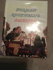 """V1975 """"Norman Rockwell's America"""" Large Hardback Book with Dust Cover"""