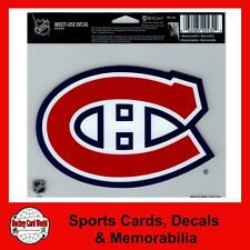 """(HCW) Montreal Canadiens Multi-Use Decal Sticker 5""""x6"""" Clear Back *FREE SHIP"""