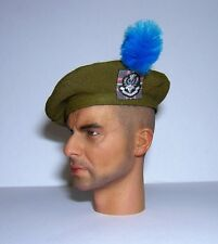 Banjoman 1:6 Scale Custom Made Tam O'Shanter - Khaki Green With Hackle - Q.O.H.