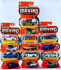 MATCHBOX 2021 MOVING PARTS COMPLETE SET 7 CAR DATSUN CHEVY CAMARO FORD BMW