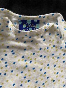 KicKee (Kicky) Pants Vintage White/Yellow/Blue Bodyshirt 0-3 Mos