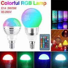 16-Colors Changing Light E14 Screw RGB Bulb LED Lamps+IR Remote Controller