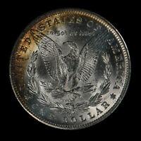 1885-O Morgan Silver Dollar - Original Deep Orange Crescent Toning - Lot#Z561
