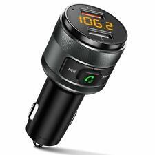Transmetteur FM pour voiture Bluetooth, kit mains libres de voiture, adaptateur