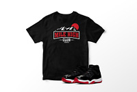 Mile High Club Graphic T-Shirt to Match Air Jordan 11 Bred Retro All Sizes