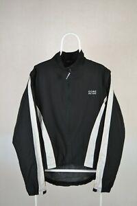 Mens Gore Bike Wear Windbreaker Jacket Wind Stopper Black Size XL X-Large
