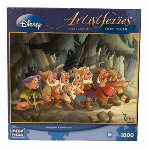 DISNEY Artist Series Coming Home 1000 Pc Puzzle Toby Bluth Snow White MEGA NOB