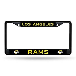 Los Angeles Rams Authentic Metal BLACK License Plate Frame Auto Truck Car NWT