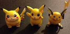 3 X TOMY Original Pokemon Figures Pikachu Raichu - Save £2 Multi-buy