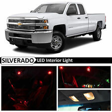 14x Red Interior LED Light Package Kit for 2007-2013 Chevy Silverado