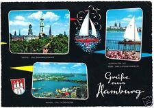 AK, Hamburg, Grüße aus Hamburg, drei Abb., gestaltet, um 1968