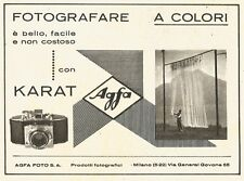 W2707 Agfa KARAT - Fotografare a colori... - Pubblicità del 1940 - Old advert