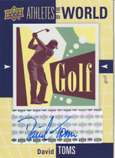 David Toms 2011 UD Athletes of the World Golf autograph auto card AW-DT