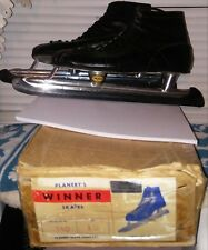 1950's Vintage Planert's Winner Ice Skates measure 11.5 Mens Amazing Condition
