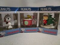 Hallmark Peanuts Ornaments 2019 Set of 3 Snoopy, Woodstock, Charlie Brown NEW