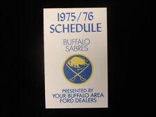 1975-76 Buffalo Sabres Hockey Schedule