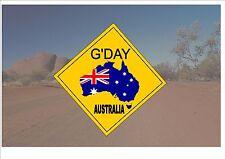 Segnale STRADALE stile australiano Australia Cartello Stradale Novità Divertente Buona giornata OUTBACK sign