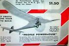 """TWO PROFILE POWERHOUSE PLANS for a 24"""" & a 30"""" Berkeley 1/4A FF Model Airplanes"""