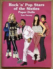 Tom Tierney Paper Dolls ~ Rock Pop Stars of the 60s ~ Cher Joplin Jagger Hendrix