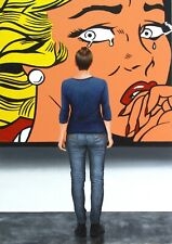 "Crying Girl 36x24"" hyperrealism photorealism museum Roy Lichtenstein G. Boersma"