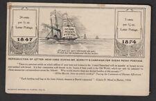 E. Burritt Reproduction Letter Head on Postcard for Ocean 1d Postage 1874
