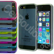 GEL THIN CRYSTAL CLEAR HARD BACK CASE BUMPER COVER FOR APPLE iPHONE 4/4S 5/S