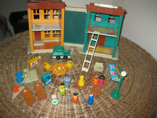 Vintage Fisher Price Little People Play Family Sesame Street Ladder 938 C Set