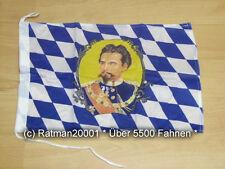 Fahnen Flagge Bayern König Ludwig Bootsfahne Tischwimpel Biker - 30 x 45 cm